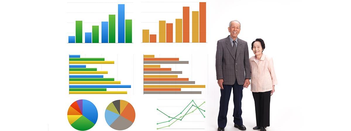 グラフと老人